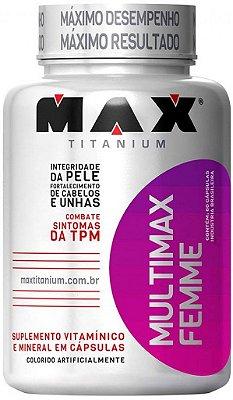 MULTIMAX FEMME multivitamínico feminino (60caps) - MAX TITANIUM