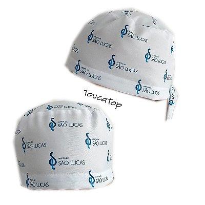 Gorro cirúrgico personalizado com a impressão digital da sua arte ou  logomarca de sua Clínica e239d9c3984