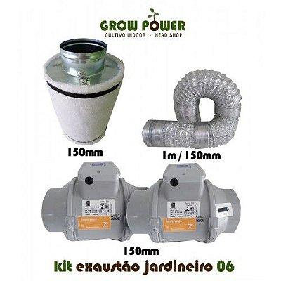 KIT Exaustão Jardineiro 6 - Turbo 150mm