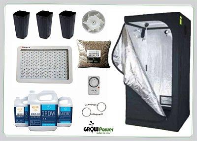 KIT LED EASY TO GROW 80x80x160 - 400w Bivolt