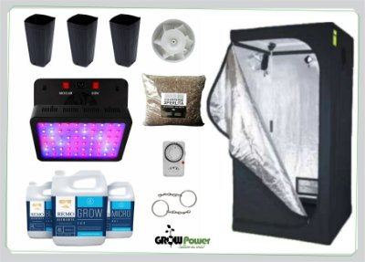 KIT LED EASY TO GROW 80x80x160 - 600w Bivolt