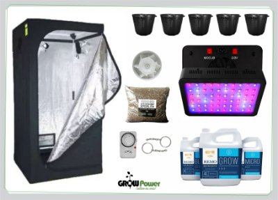 KIT LED EASY TO GROW 120x120x200 – 600w BIVOLT.