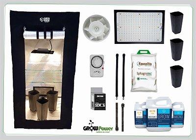 KIT LED EASY TO GROW 80x80x160 - 120w Samsung Quantum Board Bivolt