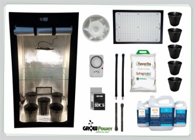 KIT LED EASY TO GROW 100x100x180 - 120w Samsung Quantum Board Bivolt