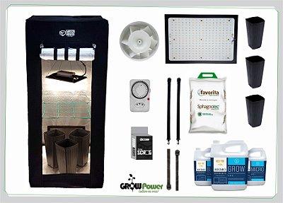KIT LED EASY TO GROW 60x60x140 - 120w Samsung Quantum Board Bivolt