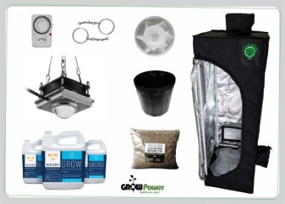 KIT LED EASY TO GROW 40x40x120 - 300w 110v