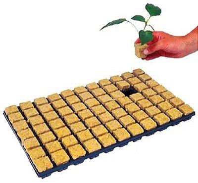 Bandeja Lã de Rocha 2,5x2,5cm - 150 unidades