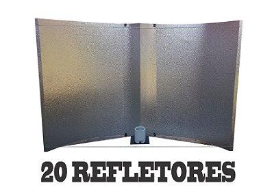 20 Refletores Aberto BIG BOSS 100x60cm + FRETE GRÁTIS