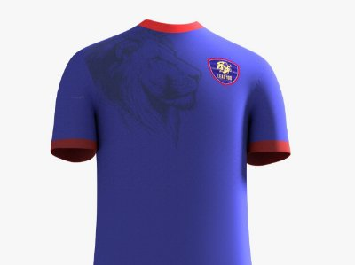 Camisa Leão 100 Malha - Azul