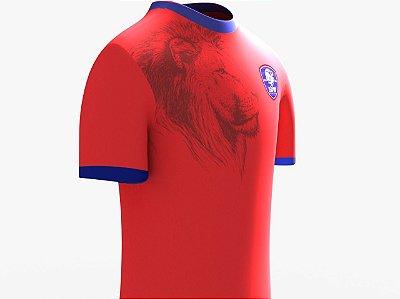 Camisa Leão 100 Malha - Vermelha