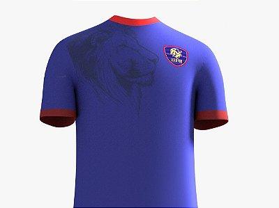 Camisa Leão 100 Malha - Azul - Feminina