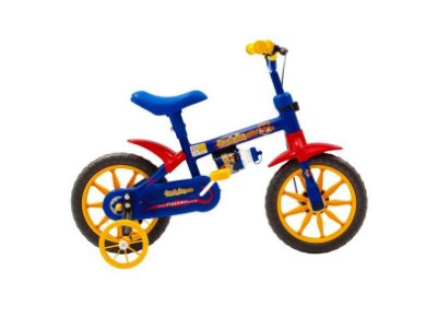 Bicicleta Ferinha Kids Aro 12 Masculina Azul / Amarelo Fischer