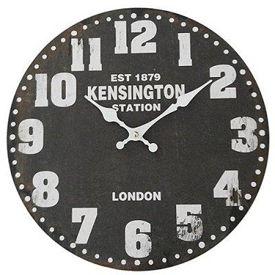 """Relógio de Parede Decorativo """"Kensington Station"""" - 34 cm"""