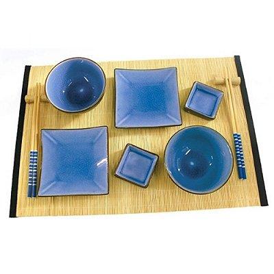 Kit Comida Japonesa para 2 Pessoas Azul - 12 Peças