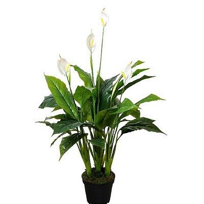 Planta Artificial Decorativa com Flor Copo-de-Leite - 105 cm