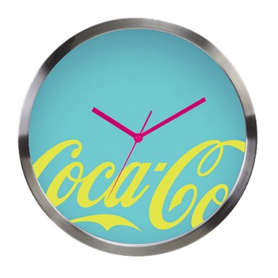 Relógio de Parede Decorativo de Metal Coca-Cola Contemporary - 30 cm