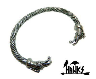 Bracelete Arm Ring Viking Dragão