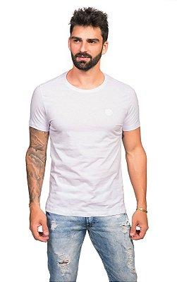 Camiseta Lisa de Algodão Lisa com Gola Careca