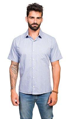 Camisa Manga Curta Sr. Tony Menswear Listrada com Bolso