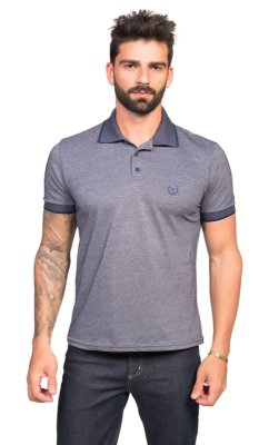Pólo Tony Menswear Piquet Dark Azul