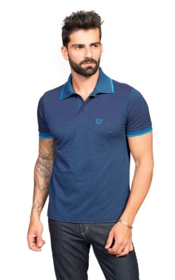 Pólo Tony Menswear Piquet Camale Azul