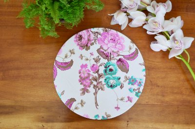 Capa de sousplat Floral Rosa e verde