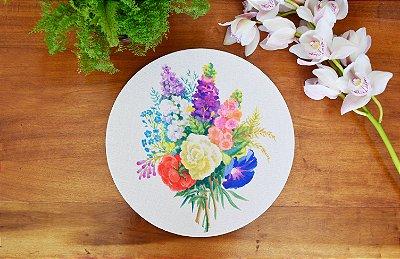 Capa de sousplat Bouquet