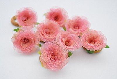 CJ. 8 un. Porta Guardanapo Mini Rosa cor Rosa