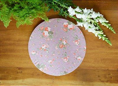 Capa de sousplat floral lilás