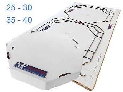 Faca Para Caixa de Pizza Oitavada (Redonda) - Modelo Conjugada