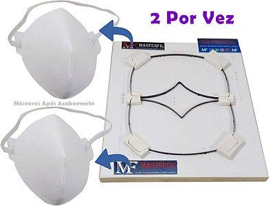 Faca Para 2 Máscaras de Tecido Modelo Cone