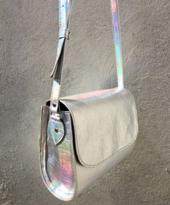 Bolsa prata Holográfica