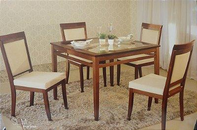 Mesa de Jantar com  4 cadeiras - Locatelle