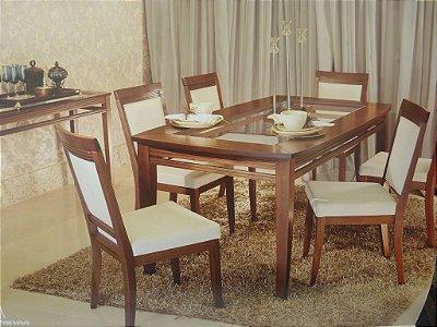 Mesa de Jantar com 6 cadeiras - Locatelli