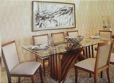 Mesa de Jantar com 6 cadeiras - Vivare