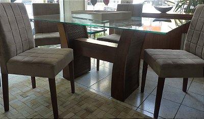 Mesa de Jantar Fenícia com 6 cadeiras K&C