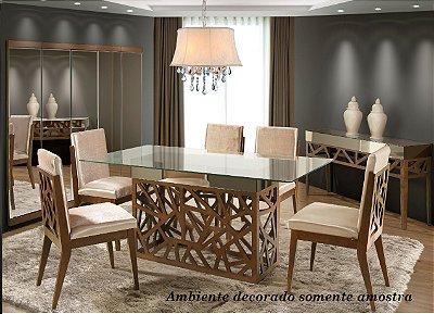 Mesa de jantar com 6 cadeiras Viés