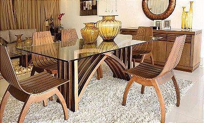 Mesa de Jantar com 6 cadeiras Vivare
