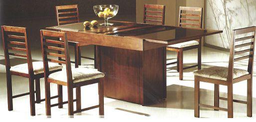 Mesa de Jantar Austrália com 6 cadeiras Cali