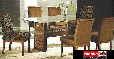 Mesa de Jantar com 6 cadeiras - Bianca