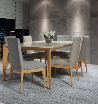 Sala de Jantar Vitória com 6 cadeiras
