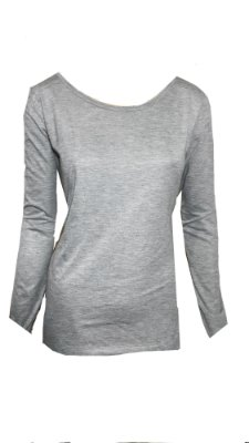Tshirt manga longa básica cinza
