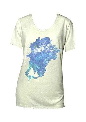 Tshirt off white aurora boreal azul