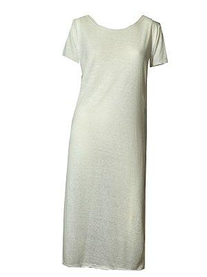 Maxi tshirt Malha off white