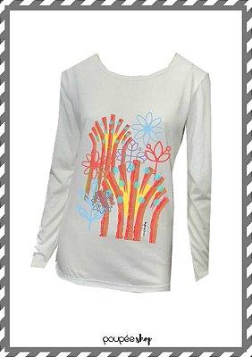 Camiseta manga longa Garden