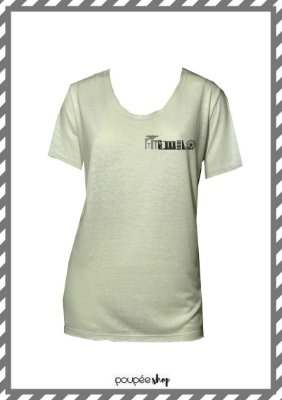 Camiseta malha off white skyline