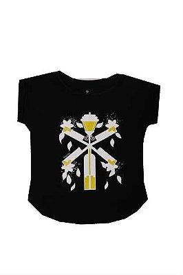 Camiseta moinho de vento preta