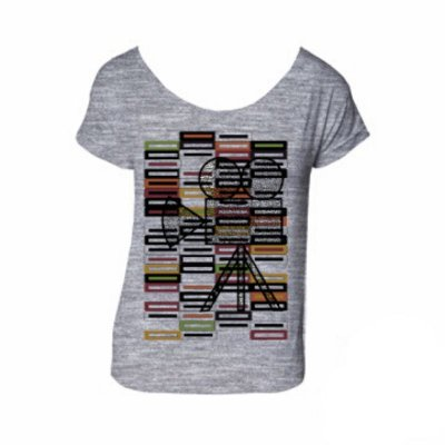 Camiseta ticket mescla cinza