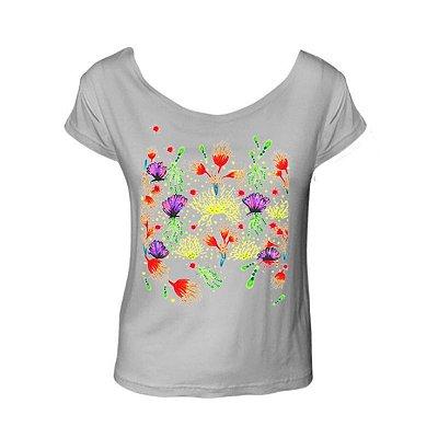 Camiseta Corais cinza mescla