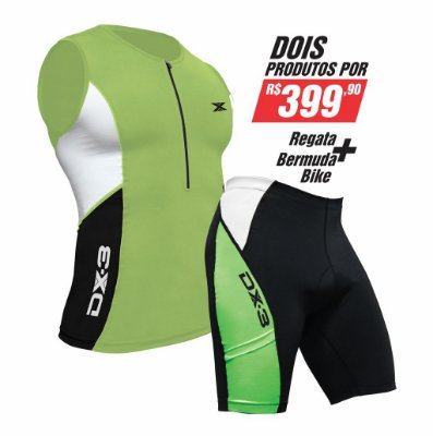Kit Masculino de Bike - Bermuda + Regata